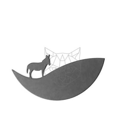 Stanzschablone Panorama Esel - Charlie und Paulchen