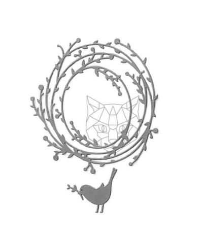 Stanzschablone Frühlingskranz - Charlie & Paulchen