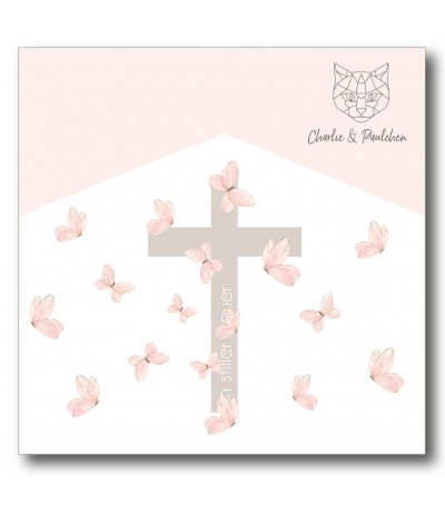 Stanzschablone Kreuz mit Text - Charlie & Paulchen
