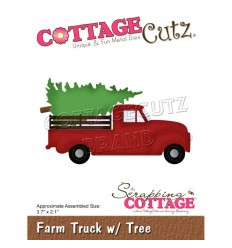 Stanzschablone Farm Truck with Tree - Cottage Cutz