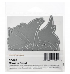 Stanzschablone Moose in Forest - Cottage Cutz