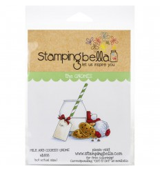 Cling Stempel Milk and Cookies Gnome - StampingBella