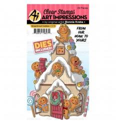 Stanzschablonen und Stempel -Set Gingerbread Cubbies - Art Impressions