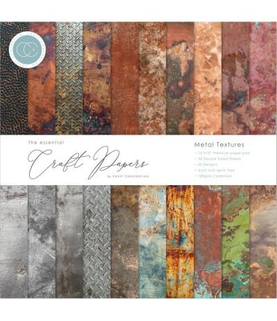 Scrapbooking Papier Metal Textures - Craft Consortium ***