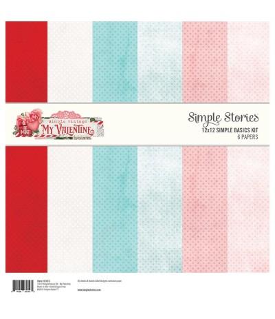 Scrapbooking Papier My Valentine - Simple Stories