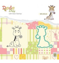 Clear Stamp & Stanzschablone Set Cute giraffe _ Nellie's Choice