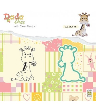 Clear Stamp & Stanzschablone Set Cute giraffe - Nellie's Choice