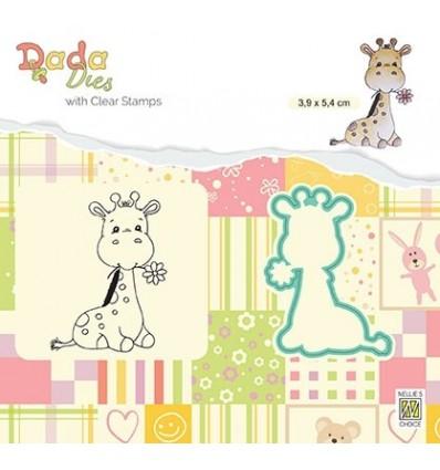 Clear Stamp & Stanzschablone Set Cute giraffe _ Nellie's Choice