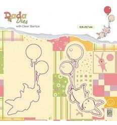 Clear Stamp & Stanzschablonen Set Balloon flieght - Nellie's Choice