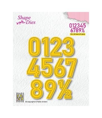 Stanzschablonen Numbers Large - Nellie Snellen