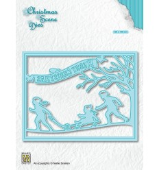 Stanzschablone Christmas Scene Snowfun - Nellies Choice