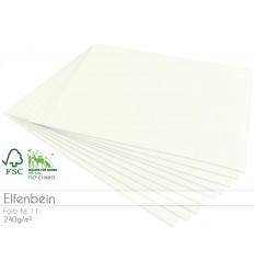 Scrapbooking Papier in elfenbein, A4 , 25 Stk. - FK