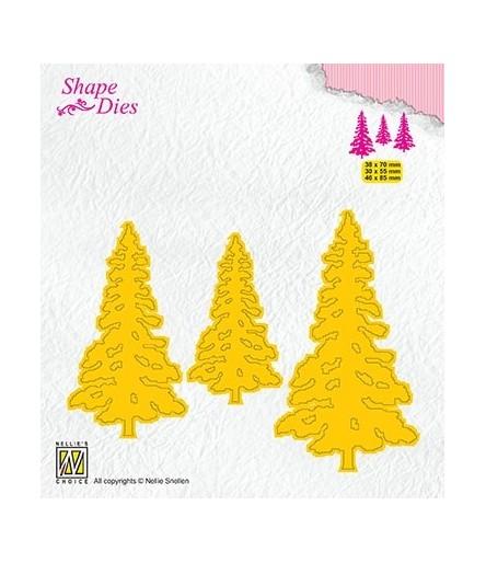 Stanzschablonen 3 Pinetrees - Nellies Choice
