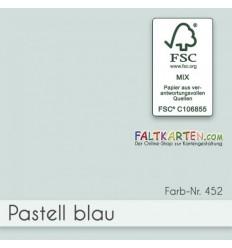 Scrapbooking Papier in pastellblau, 12 Stk. - FK