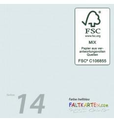 Scrapbooking Papier in hellblau, 12 Stk. - FK