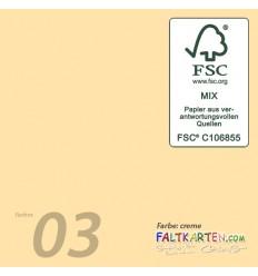 Scrapbooking Papier in creme, 12 Stk. - FK