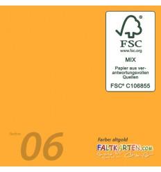 Scrapbooking Papier in altgold, 12 Stk. - FK