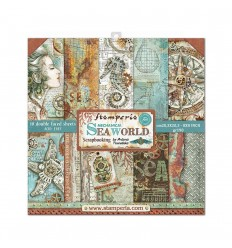"Scrapbooking Papier Mechanical Sea World, 8"" - Stamperia"