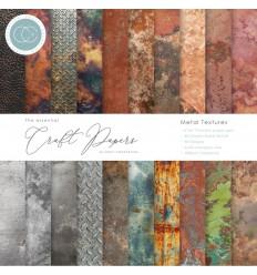 """Scrapbooking Papier Metal Textures, 6"""" x 6"""" - Craft Consortium"""