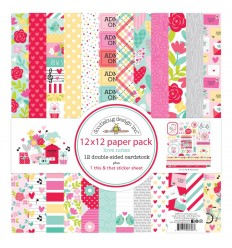 "Scrapbooking Papier Love Notes, 12"" x 12"" - Doodlebug Design"