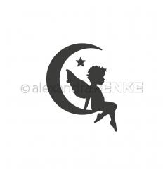 Stanzschablone Engel im Mond rechts - Alexandra Renke