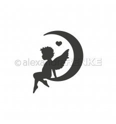 Stanzschablone Engel im Mond links - Alexandra Renke
