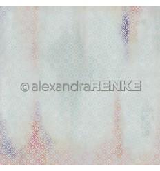 Scrapbooking Papier Teppich blau - Alexandra Renke