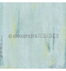 Scrapbooking Papier Teppich blau grün - Alexandra Renke