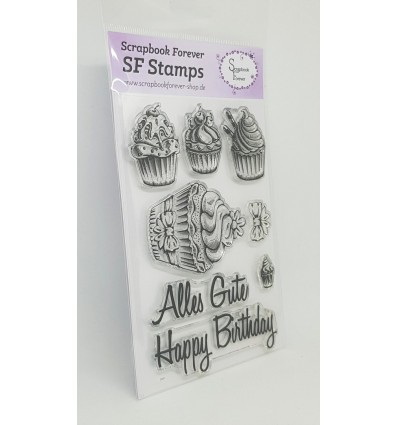 Clear Stamps Happy Birthday - Scrapbook Forever