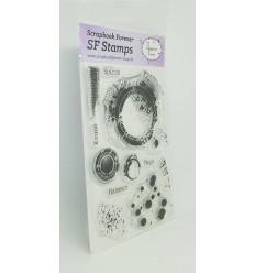 Clear Stamps Grunge Kleckse - Scrapbook Forever