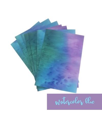 Vinylfolie Watercolor blau, A4 - Plottermarie