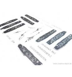 """Clear Stamp Set """"Grüsse Banner"""" - Creative Depot"""