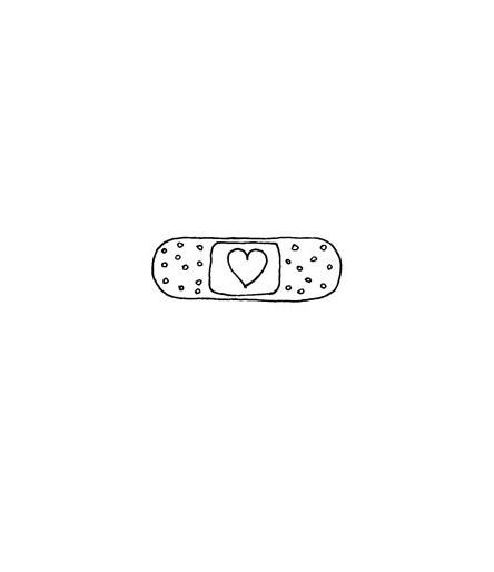 Pflaster mit Herz Stempel