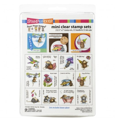 Clear Stamp House Mouse Mini Set Everyday - Stampendous