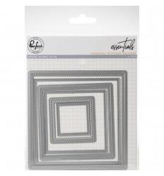Stanzschablonen Diagonal Stitched Squares - Pinkfresh