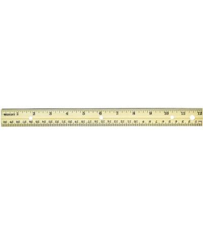 "Holzmassstab, 30.5 cm / 12 "" mit Metallkante"