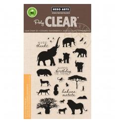 Clear Stamps Safari Huge Thanks - Hero Arts