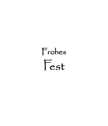Frohes Fest Stempel