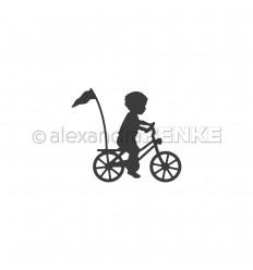 Stanzschablone Kind auf Fahrrad - Alexandra Renke