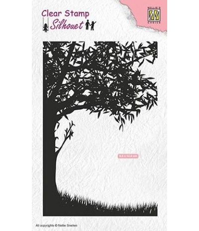 Clear Stamp Scene with tree - Nellie Snellen