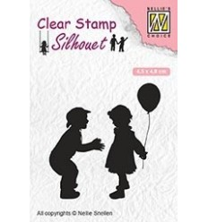 Clear Stamp Children with balloon - Nellie Snellen