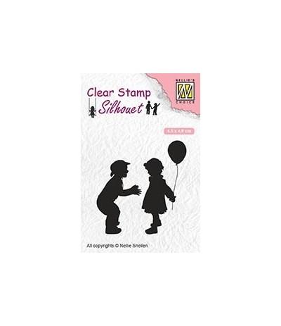 Clear Stamp Children with balloon - Nellie Snellen
