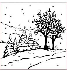 Prägeschablone Winter landscape - Nellie Snellen