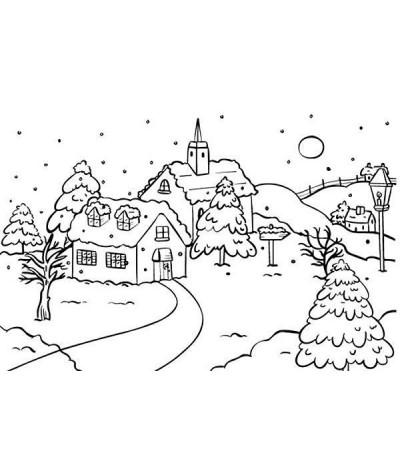 Prägeschablone Snowy Village 1 - Nellie Snellen