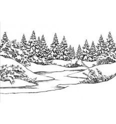 Prägeschablone Winter Scene - Nellie Snellen