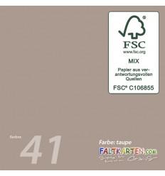 Doppelkarten in taupe 15.0 x 15.0 cm, 25 Stk. -F K