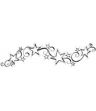 Sternen und Swirls Stempel