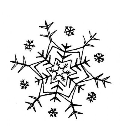 Schneeflocke Holzstempel