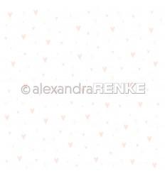 Scrapbooking Papier Baby rosa Herzen - Alexandra Renke