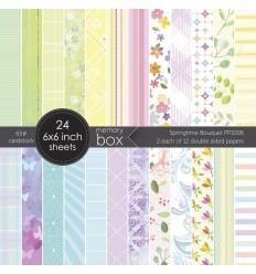 """Scrapbooking Papier Springtime Bouquet, 6""""x6"""" - Memory Box"""